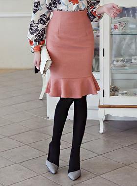 ロマンチックウールマーメイドスカート