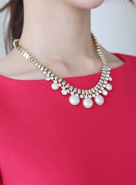 ハーフキュービック真珠ネックレス