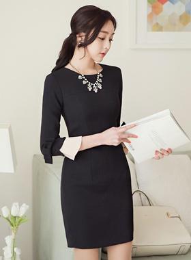 プリッツリボン袖ドレス