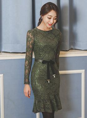 クロエレイスマーメイドドレス