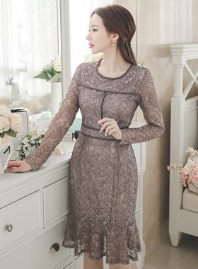 シャインレイスマーメイドドレス