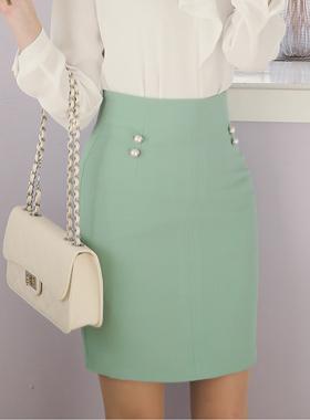 エイミーダブルパールボタンスカート
