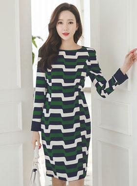 ジオパタン配色ドレス