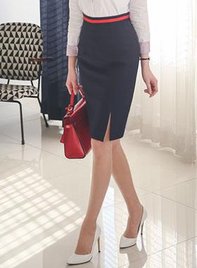 ベーシックテーピング配色スカート