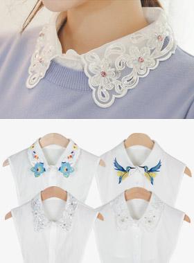レイヤードフェイクカラー(キュービック/真珠/刺繍)