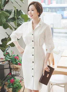 ダイアナコットンシャツドレス