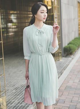 ジェーンリボンタイシーポンプリッツドレス