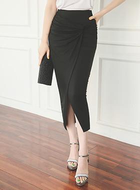 グラムドレープラップロングスカート