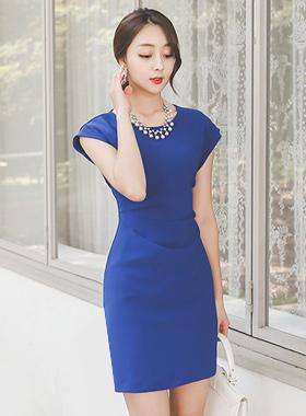 女性サイドシャーリングドレス