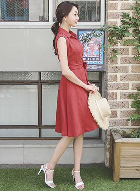 リネンシャツフレアドレス