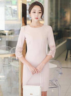 オリビアレイスモチーフドレス