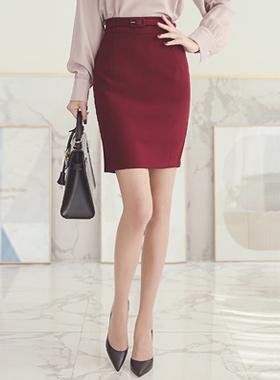 ミニマルベルトラインスカート