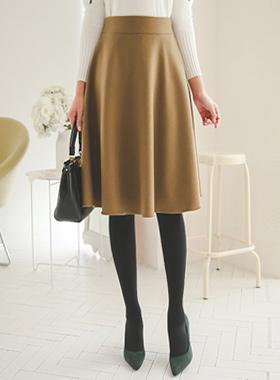 ベーシック毛織フレアスカート
