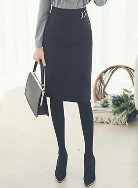 フォーマルメタル装飾Hラインスカート