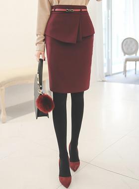 オンバルプリッツペプラムスカート(winter)
