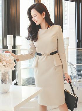 女性サイドフェプラムドレス