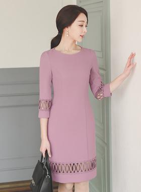 ブロードリーパンチングドレス