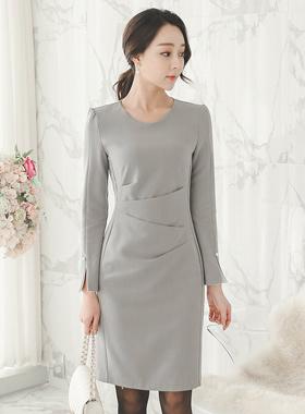 ナターシャピンチシャーリング真珠カフスドレス