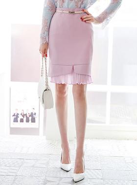 リンクルプリッツひらきスカート