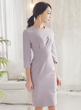 バイオレットピンチシャーリングドレス