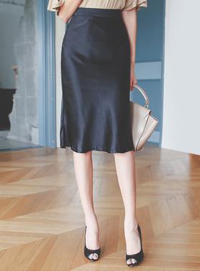 シャイニーミディロングスカート