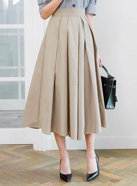 ユニークピンタックフレアスカートパンツ