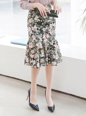 プリンセスフラワーマーメイドスカート