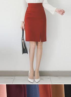ピンタックサイドスリットHラインスカート