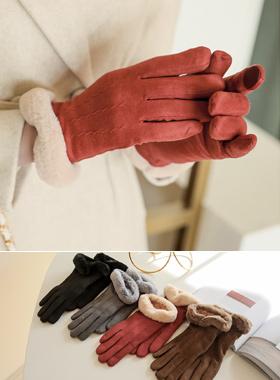 スマートタッチスエードプライニング手袋