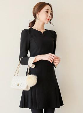 ベラスリットネックプリッツドレス(winter)