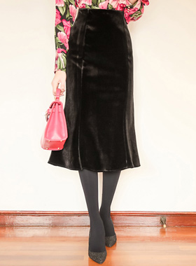 ベルベットとアドマーメイドスカート