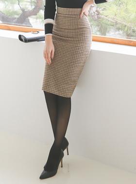 ハウンドカラーチェックHラインスカート