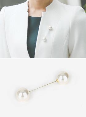 グレース真珠ピンブローチ