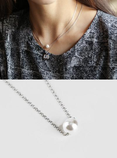 リース真珠ネックレス