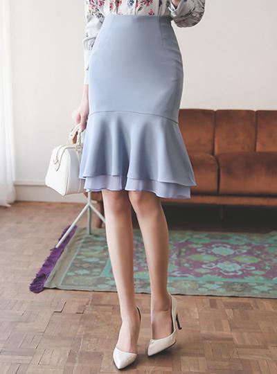 シーポンレイヤードマーメイドスカート