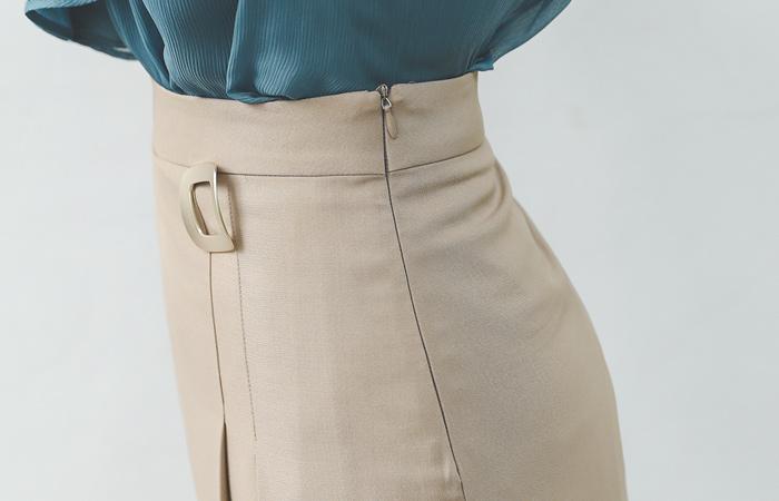 Gold スクエア レイヤード ムード ロング スカート