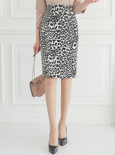 Leopard ハイウエスト Hライン スカート