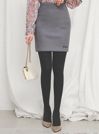 ハンドメイドスリムHラインウールスカート